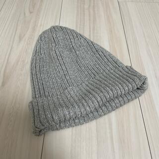 ユニクロ(UNIQLO)のUNIQLO ビーニー ニット帽 グレー ワンサイズ(ニット帽/ビーニー)