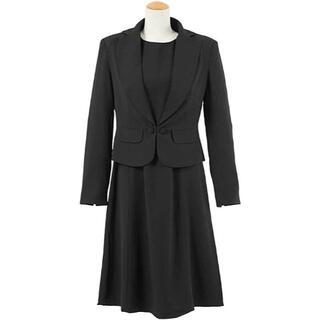 【新品未使用】フォーマルスーツ スカートスーツ 冠婚葬祭 ブラック(礼服/喪服)
