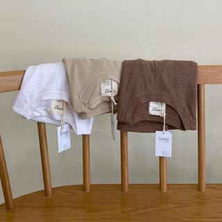 カスタネ(Kastane)のlawgy  simple rafuT white(Tシャツ(長袖/七分))
