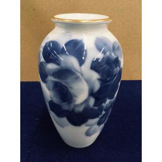 大倉陶園 - 大倉陶園 花瓶 ブルーローズ