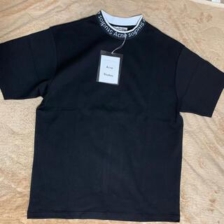 アクネ(ACNE)の新品 acne studios モックネック ロゴ Tシャツ(Tシャツ/カットソー(半袖/袖なし))