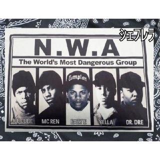 最恐集団!NWA ホワイトTシャツ 白×黒 モノトーン(Tシャツ/カットソー(半袖/袖なし))