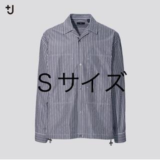 ユニクロ(UNIQLO)のスーピマコットンオーバーサイズシャツブルゾン プラスJ(ブルゾン)