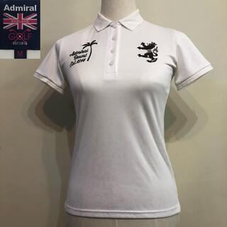 アドミラル(Admiral)のアドミラルゴルフ ポロシャツ 日本製 レディース ホワイト  ボタニカル M(ウエア)