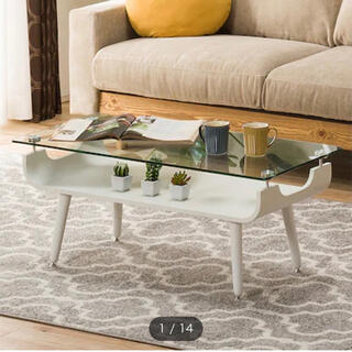 ニトリ - ニトリ・ガラステーブル