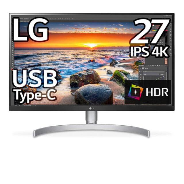 LG Electronics(エルジーエレクトロニクス)の【新品未開封】LG 27インチ モニタ 27UK850-W スマホ/家電/カメラのPC/タブレット(ディスプレイ)の商品写真