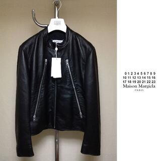 マルタンマルジェラ(Maison Martin Margiela)の新品 48 マルジェラ 21ss 八の字ライダース 黒 832(ブルゾン)