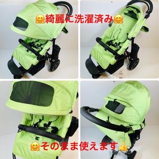 エアバギー(AIRBUGGY)の【美品・希少色】Air Buggy COCO BRAKE  グリーンアップル(ベビーカー/バギー)