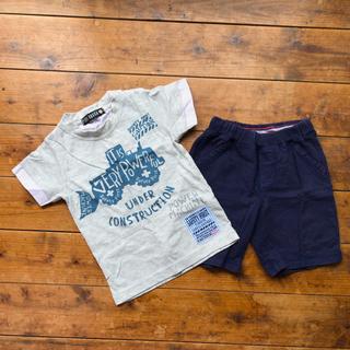 ユニクロ(UNIQLO)の半袖Tシャツ ハーフパンツ セット(Tシャツ/カットソー)