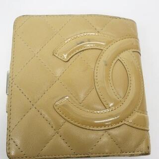シャネル(CHANEL)のシャネル CHANEL カンボンライン ココマーク 二つ折り がま口 レザー (長財布)