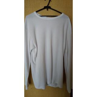 シマムラ(しまむら)のしまむらの5Lの白のロングティーシャツ(Tシャツ/カットソー(七分/長袖))