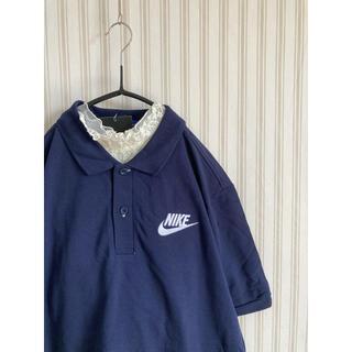 ナイキ(NIKE)の古着 ヴィンテージ   ロゴ 刺繍 NIKE ポロシャツ ビンテージ used(ポロシャツ)