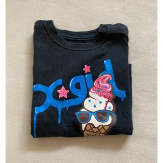 エックスガール(X-girl)のエックスガール X girl アイス Tシャツ 3T 90 80 ブラック (Tシャツ/カットソー)