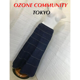 オゾンコミュニティマキシ丈Aラインスカート(ロングスカート)