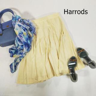 ハロッズ(Harrods)のハロッズ スカート サイズ2 M ホワイト ひざ丈 ミニ丈 プリーツスカート(ひざ丈スカート)