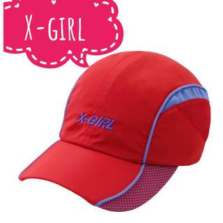 エックスガール(X-girl)のX-girl エックスガール【美品】ロゴ刺繍 メッシュ キャップ(キャップ)