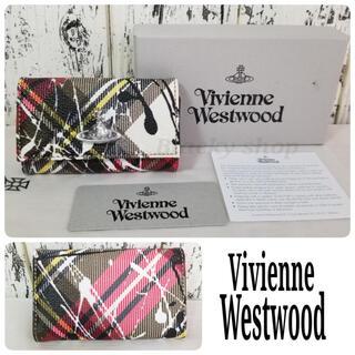 ヴィヴィアンウエストウッド(Vivienne Westwood)の【未使用】Vivienne ヴィヴィアン キーケース 白 チェック ペイント(キーケース)