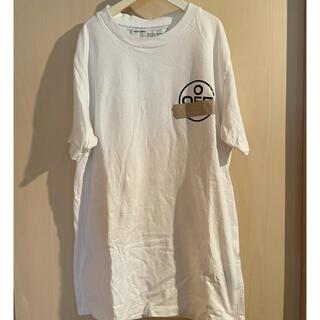 オフホワイト(OFF-WHITE)のoff white テープアロー tシャツ(Tシャツ/カットソー(半袖/袖なし))