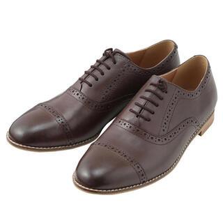 ムジルシリョウヒン(MUJI (無印良品))の新品 MUJI 無印良品 ストレートチップシューズ ブラウン(ローファー/革靴)