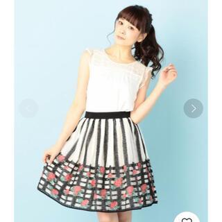 ドーリーガールバイアナスイ(DOLLY GIRL BY ANNA SUI)のドーリーガールバイアナスイ ローズバスケットジャガードスカート(ひざ丈スカート)