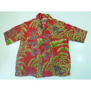 ドゥニーム(DENIME)の7fx DENIME-ドゥニーム和柄 縮緬 半袖アロハシャツ アロハ ハワイ(シャツ)