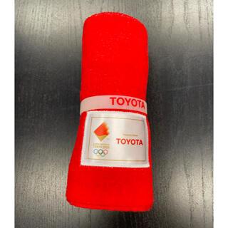 トヨタ(トヨタ)の東京オリンピック2020   TOYOTAタオル 聖火リレーシリコンリストバンド(タオル/バス用品)