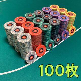 EPT 高級セラミックポーカーチップ カジノチップ 100枚(トランプ/UNO)