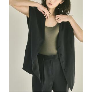 トゥデイフル(TODAYFUL)のTODAYFUL 【今期・新品】Collarless Twill Vest(ベスト/ジレ)