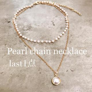 【再販】2連Pearl chain necklace(ネックレス)