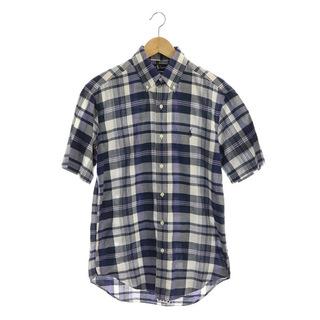 ラルフローレン(Ralph Lauren)のラルフローレン チェック半袖シャツ ボタンダウン S 紺 ネイビー(その他)