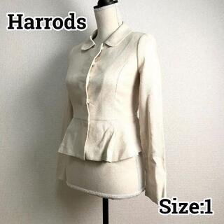 ハロッズ(Harrods)のHarrods ハロッズ 春秋 ラウンドカラージャケット ナチュラル 1(テーラードジャケット)