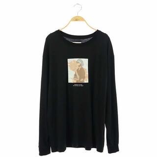 アメリヴィンテージ(Ameri VINTAGE)のアメリヴィンテージ カットソー Tシャツ 長袖 ロンT プリント F 黒(カットソー(長袖/七分))