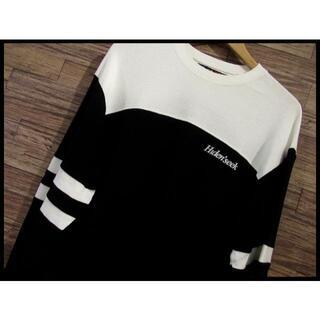 ハイドアンドシーク(HIDE AND SEEK)のG① XL ハイドアンドシーク 長袖 サーマル フットボール Tシャツ 白 黒(Tシャツ/カットソー(七分/長袖))