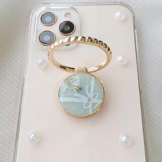 iPhoneケース ハンドメイド iPhone11 など  ティファニー ブルー(iPhoneケース)