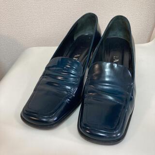 プラダ(PRADA)のプラダ ヒールローファー 24cm(ローファー/革靴)
