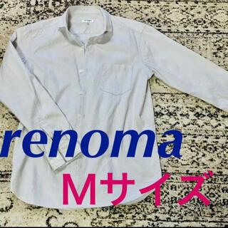 レノマ(RENOMA)のレノマ 長袖 シャツ ライトグレー Mサイズ(シャツ)