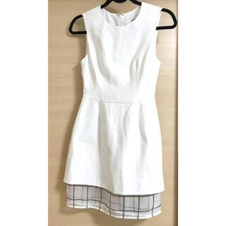 カメオコレクティブ(C/MEO COLLECTIVE)のcameo カメオ ワンピース レディース 膝上 ミニスカート 白 上品 ドレス(ミニワンピース)