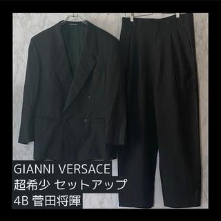 ジャンニヴェルサーチ(Gianni Versace)の【希少】ジャンニヴェルサーチ  ダブル セットアップ ジャケット 4B グレー(セットアップ)