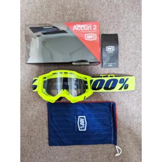 モトクロスゴーグル 100% ACCURI2 OTG (眼鏡対応)イエロー(モトクロス用品)