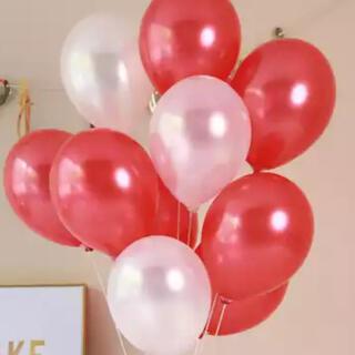 【15個】風船 パーティー バルーン 飾り 装飾 ウェディング 結婚式 赤 白(ウェルカムボード)