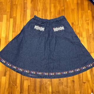 チチカカ(titicaca)のチチカカ・デニムスカート 膝丈スカート(ひざ丈スカート)