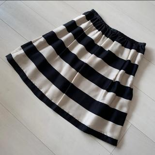 ナチュラルビューティーベーシック(NATURAL BEAUTY BASIC)のNATURAL BEAUTY  BACIC ボーダースカート(ミニスカート)