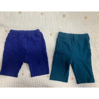 サンカンシオン(3can4on)の青緑ハーフパンツ2枚セット サイズ90&95(パンツ/スパッツ)