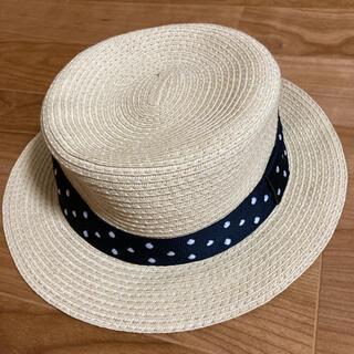 ジーユー(GU)のGU  麦わら帽子 ベージュ(帽子)