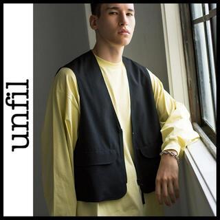 コモリ(COMOLI)のunfil 19ss wool-tropical zip up vest ベスト(ベスト)