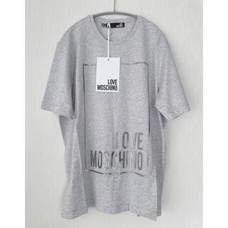 MOSCHINO - 【新品】MOSCHINO  ブランドロゴ 半袖Tシャツ トップス42