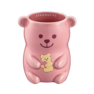スターバックスコーヒー(Starbucks Coffee)のスターバックス台湾 2021年 桜 マグカップ クマ ピンク さくら(マグカップ)