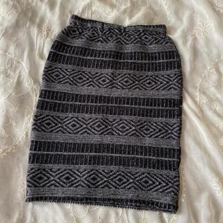 ロンハーマン(Ron Herman)のvintageレトロ♦︎ネイティブ刺繍スカート(ひざ丈スカート)
