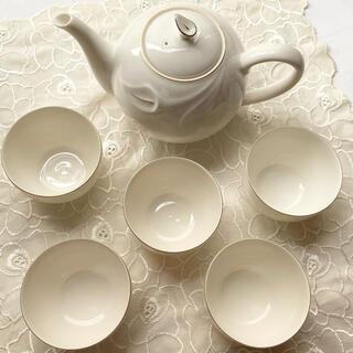 タチキチ(たち吉)のたち吉 テーブルウェア ポットと湯呑み5個(グラス/カップ)