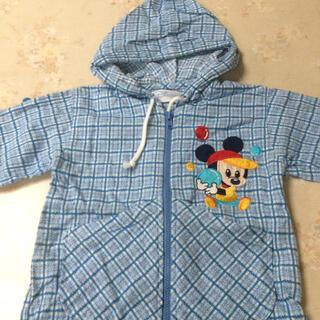 ディズニー(Disney)のパーカー ミッキー 80サイズ 青(カーディガン/ボレロ)